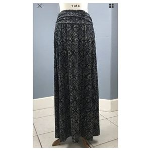 Maurices Womens Sz 0 Maxi Skirt Modest Stretch
